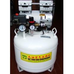 国产550W无油活塞式空气压缩机OMY-550W-35L立式,中低档卧式静音空压机,全无油空压机,超静音空压机,静音无油式空压机,小型无油压缩机